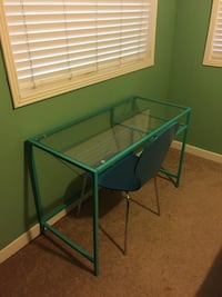 Turquoise glass desk and chair South Pasadena, 33707
