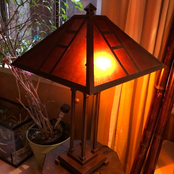 Used 70 Off Distinctive Van Herp Table Lamp Mica Shade Bronze Metal 26 S For 513 Online 2 Units Available In Secaucus