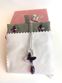 Swarovski Heart And Butterflies Necklace And Earrings Toronto, M3J 3L9