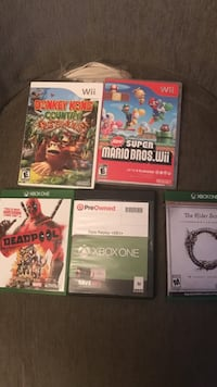 Xbox one and wii games Belleville, 07109