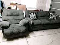 Gray fabric sofa with free chair Lemoore, 93245