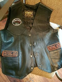Womens Friday the 13th Leather Vest Biker Babe Niagara Falls