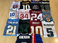 Assorted sports jerseys (basketball, football, hockey) Toronto, M4V 3C6