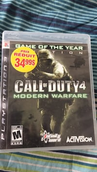 Call of duty 4 modern warfare ps3 game case Charny, G6X 1W2