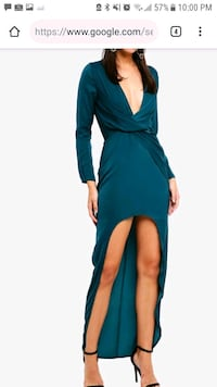 Missguided satin high low twist front dress Mississauga, L5M 3Z1