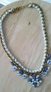 white and gold cuban chain link necklace 29 mi