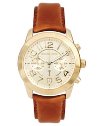 Michael Kors Mercer Gold tan leather watch Mississauga, L5V 2Z3
