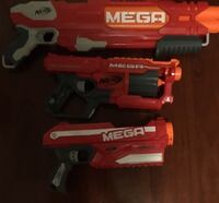 3 working mega nerf guns with 10 working bullets  Oakleigh East, 3166