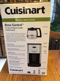 White and black cuisinart coffee maker North Middlesex, N0M