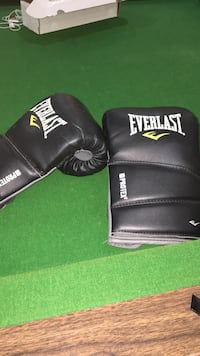 pair of black leather Everlast boxing gloves Whitchurch-Stouffville