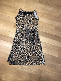black and brown leopard print sleeveless dress Montréal, H4M 2N2