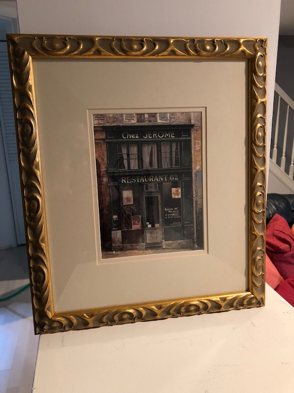 Framed picture of Parisian cafe