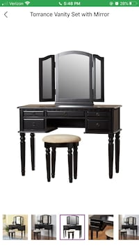 Black Makeup Table / Vanity