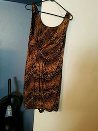 brown and black scoop neck sleeveless dress Lafayette, 70503