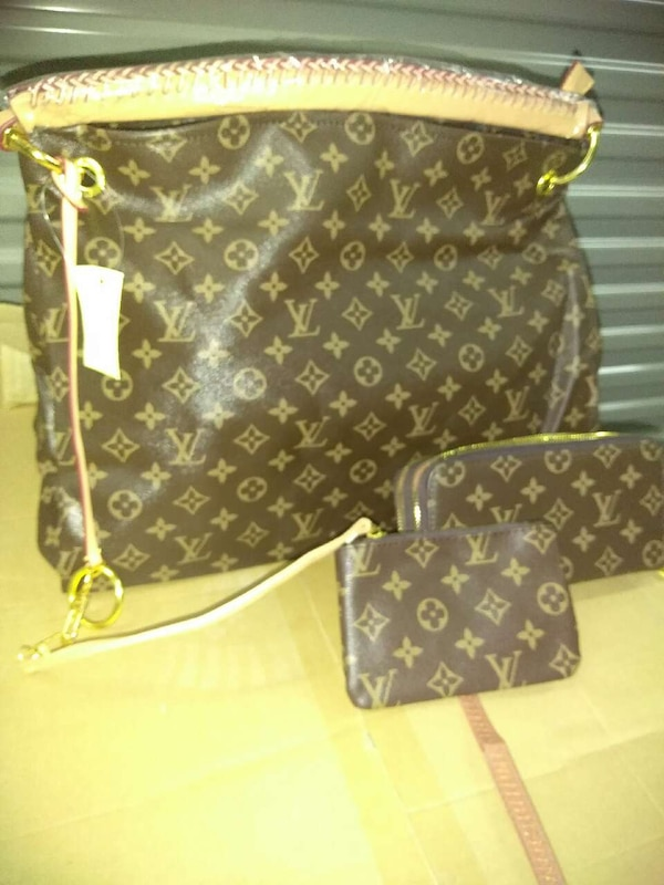 1d5cc68bc8a3 Used brown louis vuitton sling bag and wristlet for sale in Chicago - letgo