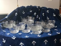 Arcoroc France Crystal Glass Salad and/or Dessert Bowls Set WOODBRIDGE
