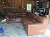 Genuine leather sectional. Great used condition, very comfortable.  Centreville, 20120