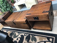 Two Side Tables. 1 Coffee Storage Coffee Table. Very expensive & Solid, Well Made.   Aurora, 80014