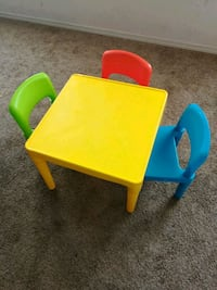 square yellow  table with twochairs Wichita, 67207