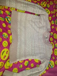 Size small knitted sweater (baby pink and white)  San Bernardino, 92405