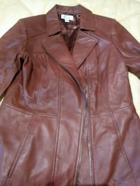 brown leather zip-up jacket Colorado Springs, 80907