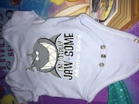 baby's gray jaw-some printed onesie Columbus
