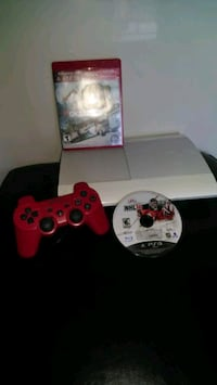 white Sony PS3 super slim console with controller Toronto, M2N