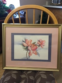 Framed and matted flower picture - Duink Ocala, 34470