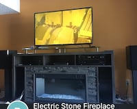 Electric stone fireplace with glass top Edmonton, T5L 4C9