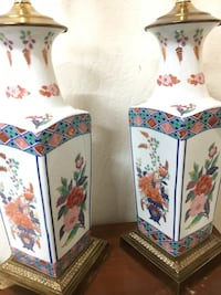 """Asian cloisonne lamps. Height 30"""" tall $30 each or $60 for pair Sacramento, 95831"""