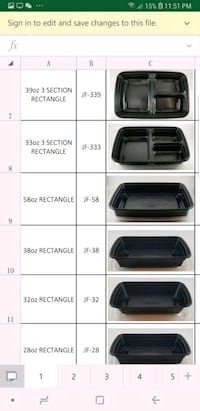 LR Microwave Bento Take Out Containers Toronto, M1H 2X8