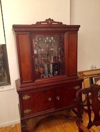 Antique wood and glass China cabinet Silver Spring, 20901