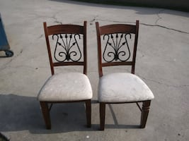 2 Solid Chairs
