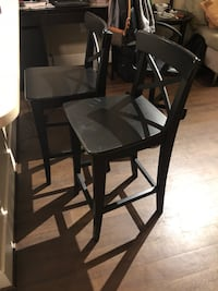 IKEA Bar Stool with backrest (brown black) Washington, 20009