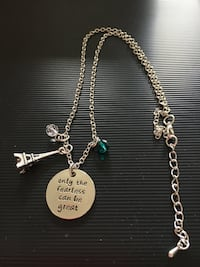 Necklace with silver charms Port Coquitlam