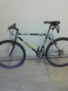 white and black mountain bicycle