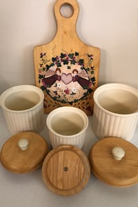 Canister Set and Decorative Cutting Board