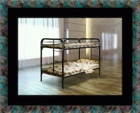 Twin bunk bed frame with mattress Adelphi