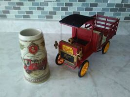 Stroh's beer truck and stein