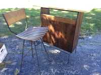 "VINTAGE 1960"" s.BAR WITH MATCHING CHAIR. West Chicago"