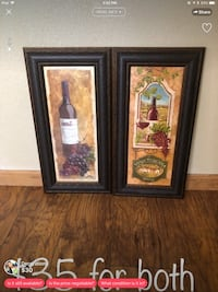 two brown wooden framed painting of flowers El Paso, 79936