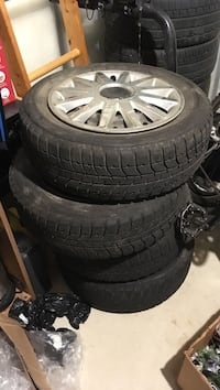Old tires and rims