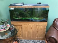brown wooden framed fish tank 55 gallons  Germantown, 20874