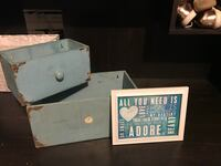 Decor boxes turquoise and small frame  Lubbock