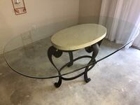 Glass top table/6 chairs, iron bakers rack Walterboro, 29488