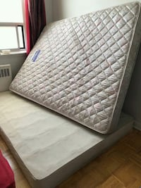 quilted white and gray floral mattress Toronto, M4H 1H9