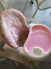 baby's pink and white high chair Edmonton, T6V 0C1