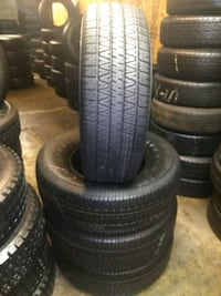 Set of 4 tires P265/70/R16 FIRESTONE 97% OF LIFE $ Riverside, 92501