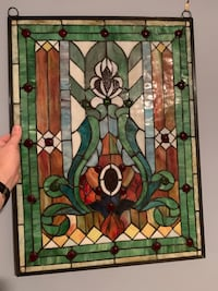 Stained glass 25 h x 19 w New York, 10019