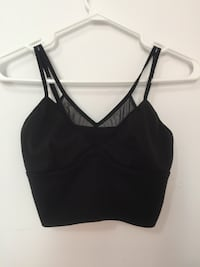 Black short crop top from Dynamite (Size Small) Montréal